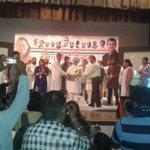 Girish Ji and Roji Ji giving momento to Honble Dr. Manmohan Singh Ji. #Drishtikon2015 http://t.co/pBgABKJ5PC