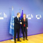 EU-UN coop on #Migration, #Libya, #Ukraine, #IranTalks, #MiddleEast discussed with Ban Ki Moon http://t.co/d0N0WgE4fq http://t.co/d0N0WgE4fq