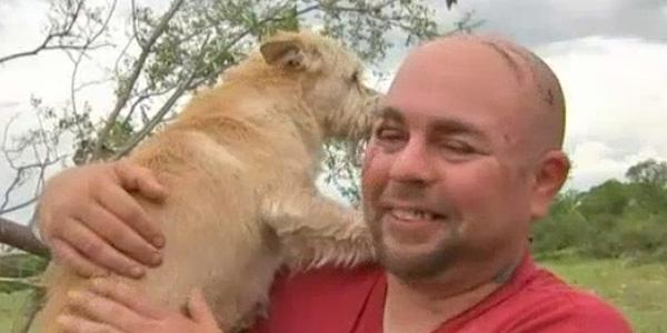 Aww! See a man's tearful reunion with his beloved dog 'Tater' following a tornado
