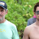 Matt Bomer's body looks better than EVER! See beach pics with hubby Simon Halls here: http://t.co/sLFsQTsOk6 http://t.co/KIVOboiKBu
