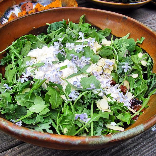 This bowl came out of the kiln this morning! First salad: baby kale and arugula, herbs, sliced almonds, grated parm… http://t.co/rd1AXe9Cbh