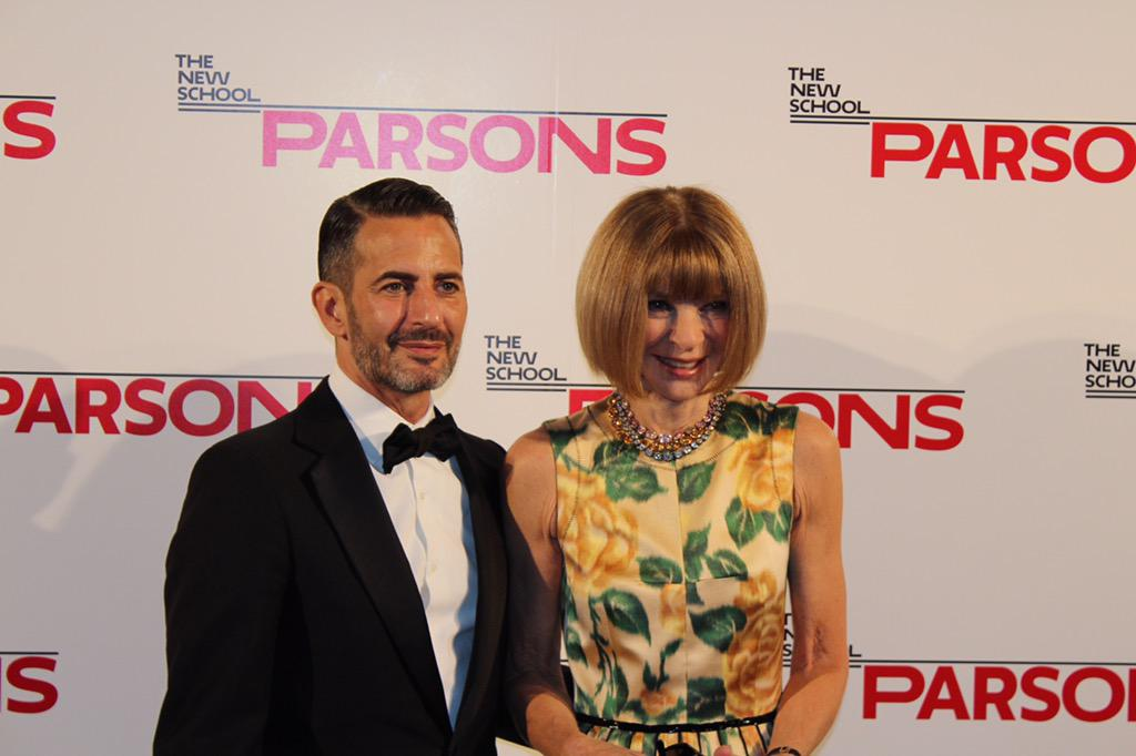 """""""Thank you Parsons for instilling a strong work ethic in me""""— @TheMarcJacobs at #ParsonsBenefit http://t.co/9WqaTCzuZF"""