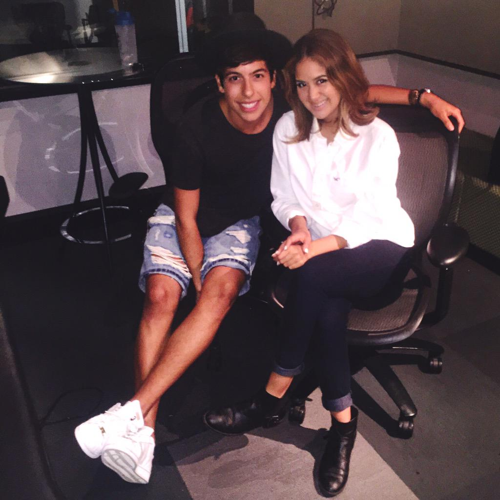 Working on some hits with this cutie @matthunter123! (