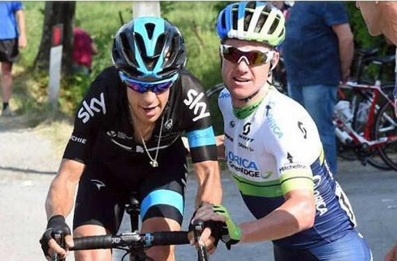 Sportsmanship and goodwill at it's best. #Giro2015 @SimoClarke @richie_porte http://t.co/KFXa4Y9ejl