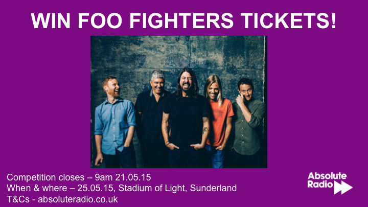 Hey you! Want to see @foofighters in Sunderland on Monday?  Course ya do!   RT this to be in with a chance http://t.co/aDxFhsffuS