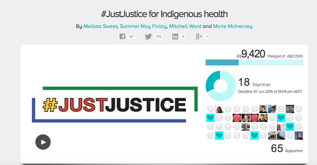 Big thanks to 65 wonderful supporters of #JustJustice: http://t.co/R6iYbYw3Xs Only 18 days to go - HELP! @OnTopicAus http://t.co/4CeXwZ0iOr