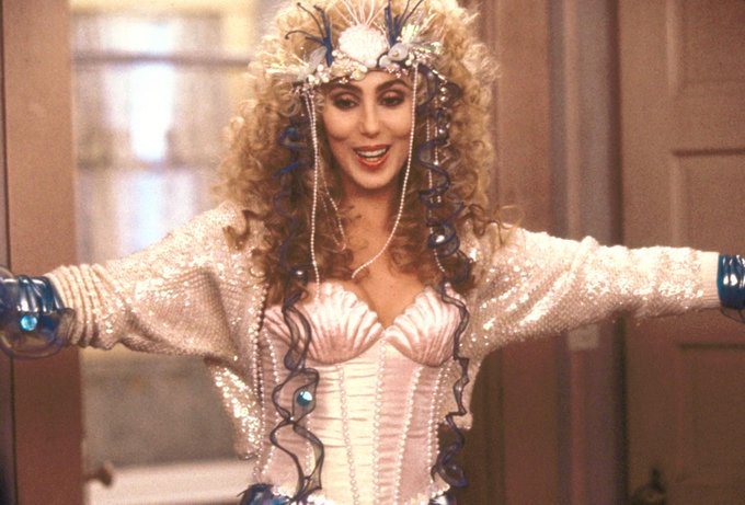 Cher is 69 today! Happy Birthday Cher! Mermaid\s (1990) is a great film!