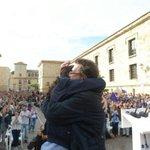 Javier Iglesias con su hijo @Pablo_Iglesias_ en Zamora. #PabloIglesiasCyL http://t.co/rhnEwr5Zga http://t.co/z4ajRJuEwl