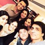 RT @SimplySajidK: Friends,fun,family @Riteishd @TheFarahKhan @SonuSood @MirzaSania @geneliad @shriya1109 http://t.co/Mr8gejc3lf