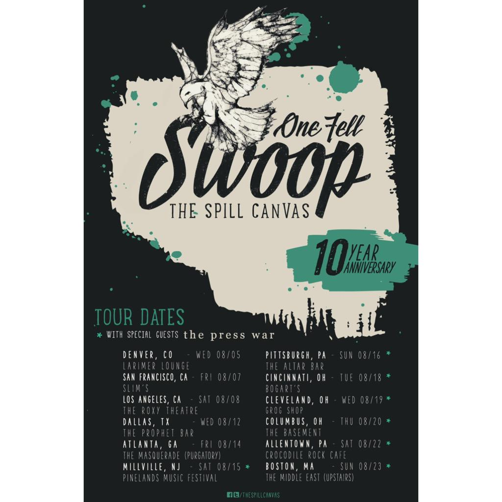 One Fell Swoop 10 Year Tour w/special guests @ThePressWar. Tickets on sale this Friday @ http://t.co/u54AbhqmQx http://t.co/ftFkBSeUxh