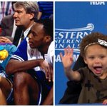 Once upon a time, Steph Curry was the cute kid in dad's moment...