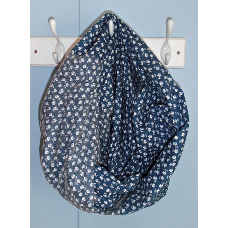 So Many Ways To Wear Blue Floral Infinity Scarf by YoursTrulyJessica http://t.co/us25fhRwfJ http://t.co/LtfEcY1Ekv