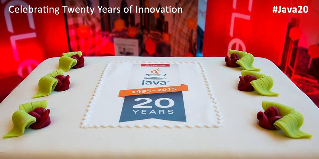 Celebrating 20 Years of #Java Today!  #Java20 https://t.co/iEFZVkV1us http://t.co/HVrgvxJKcq