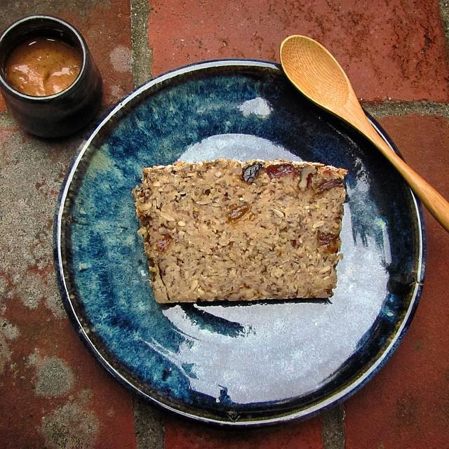 Mindfulness Bread on a brand new plate with almond coconut butter in a brand new tiny teabowl. #feedfeed #recipe #o… http://t.co/mMox5bJ6er