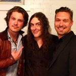 It's official - I'm the new member of Hanson! Thanks to Taylor and Isaac for dropping by my show last night in Tulsa. http://t.co/XdEEX2f6cO