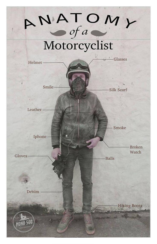 Anatomía de un Motociclista... Yeah!!! #ride #motos #biker http://t.co/eLuvH58Idb