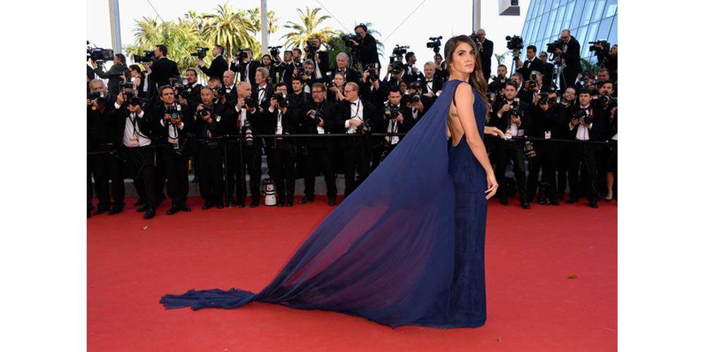 Actress @NikkiReed_I_Am on the #Cannes red carpet in a breathtaking @Azzaro gown. http://t.co/iBA9suR9KK