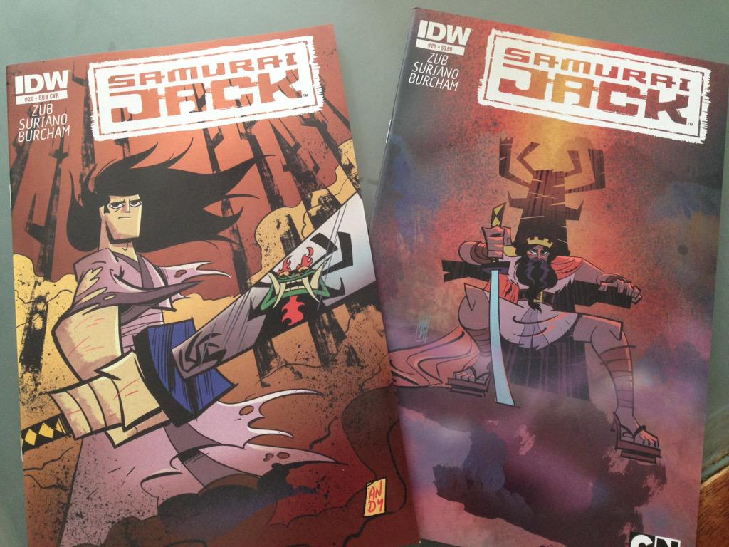 Issue 20 comps came in! You're going to love our Samurai Jack finale @JimZub @jcburcham @IDWPublishing @phillamarr http://t.co/qc7UWemc6q