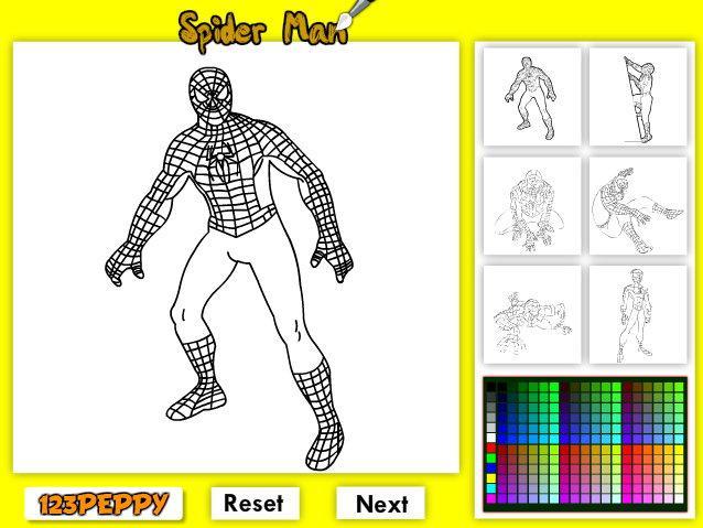 Игры онлайн раскраска человек паук