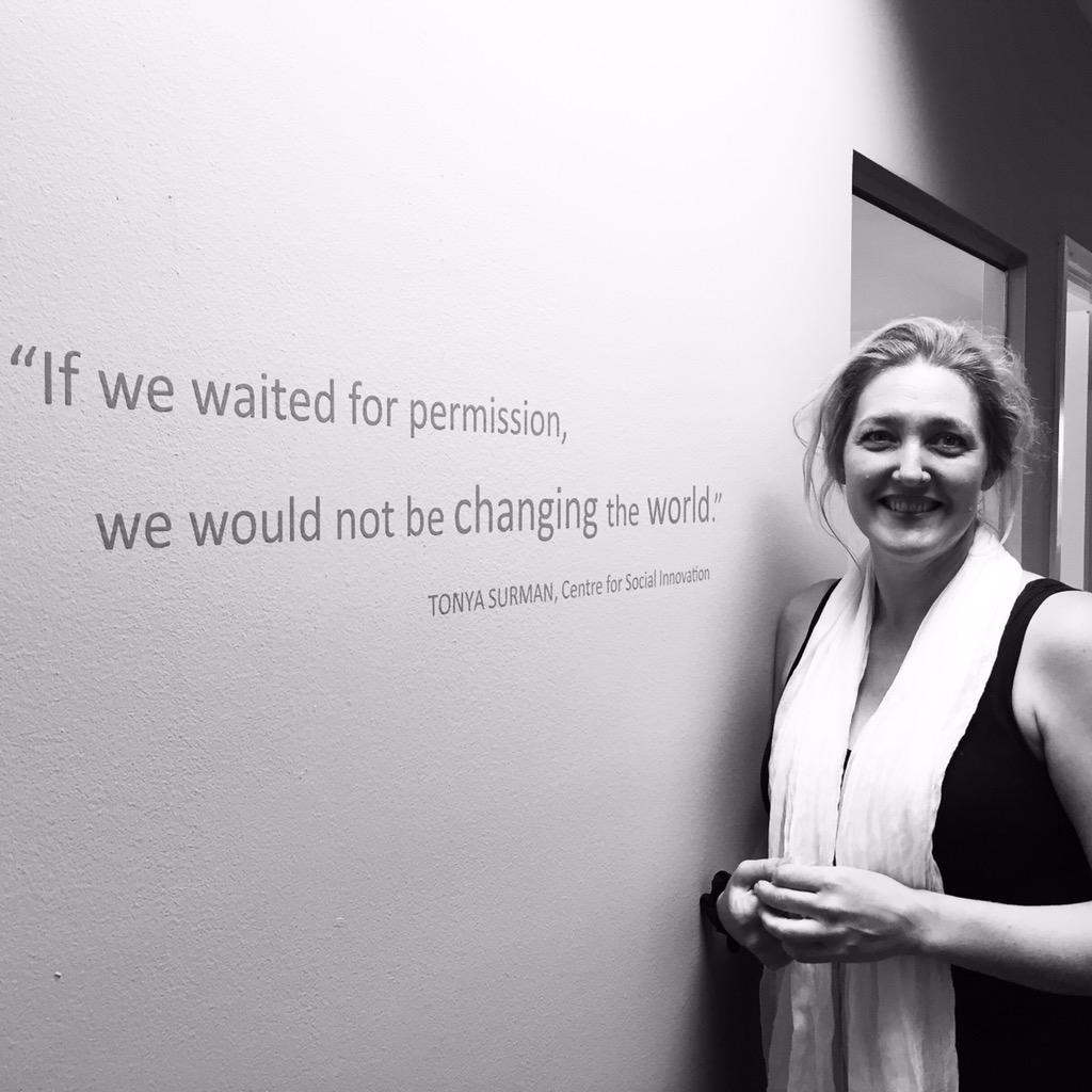 Pretty emotional moment when @tonyasurman found her quote on the wall at @Ashoka HQ. So cool. http://t.co/EkICeQXN0n