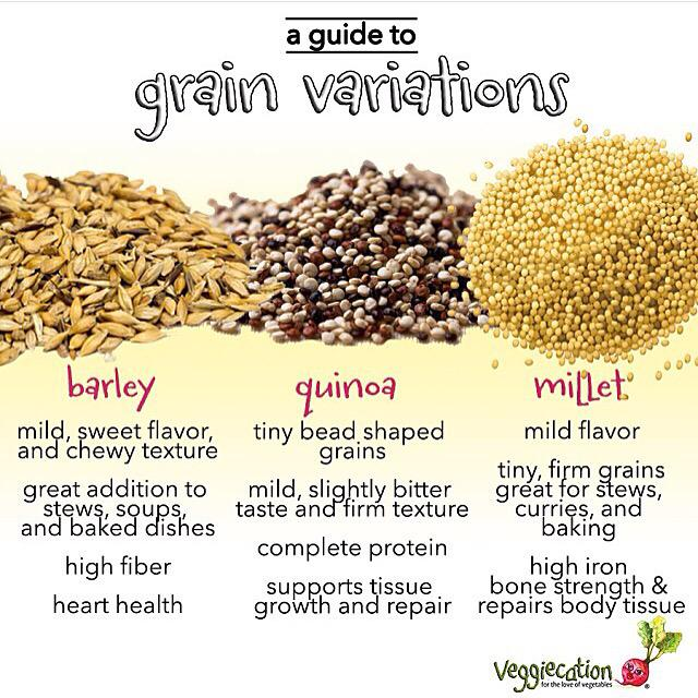 There are a variety of delicious grains - explore! #plantbased http://t.co/pVACXn7A0G