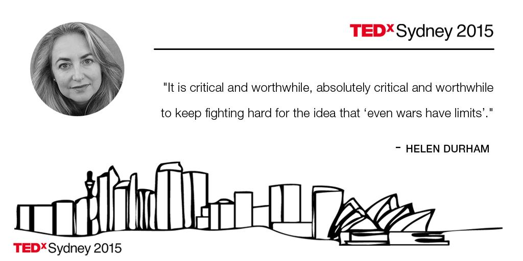 """""""If you look very carefully you can see the best of humanity at the worst of times"""" @HADurhamICRC #TEDxSydney http://t.co/4awl7EiMvc"""