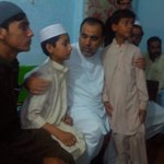 With the family of Riyasat Sarhadi president PTI Nowshera who died last week @PTIofficial @ImranKhanPTI http://t.co/y0u8EH9m9N