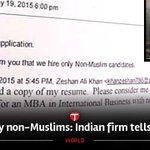 Secular Bharat Mahan ???????? Zeeshan was rejected cz hes a Muslim, his non-Muslim friends got job http://t.co/6cj6xlQJdf http://t.co/y4n6a5oBJW