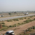 RT @IndiaToday: Ever seen a sight like this?  An Indian Air Force Mirage 2000 lands at Yamuna Expressway today.
