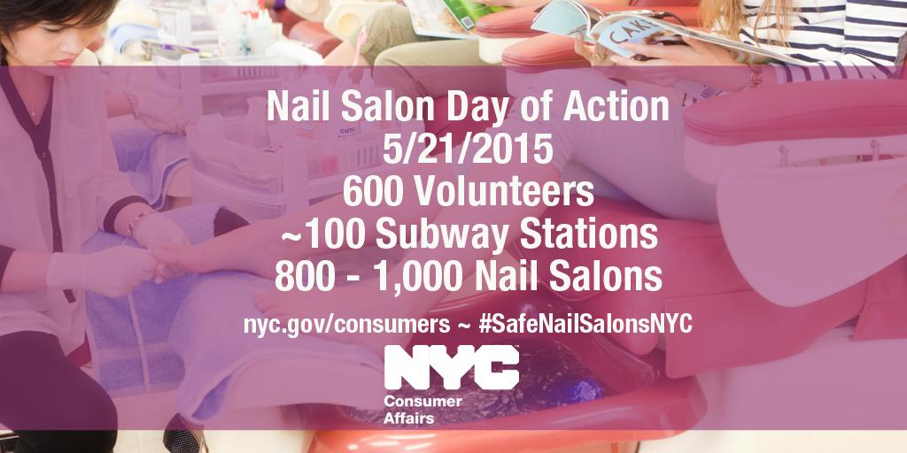 Hundreds of volunteer in the 5 boroughs are educating nail salon workers, owners & patrons about #SafeNailSalonsNYC http://t.co/OSC2o35VPz
