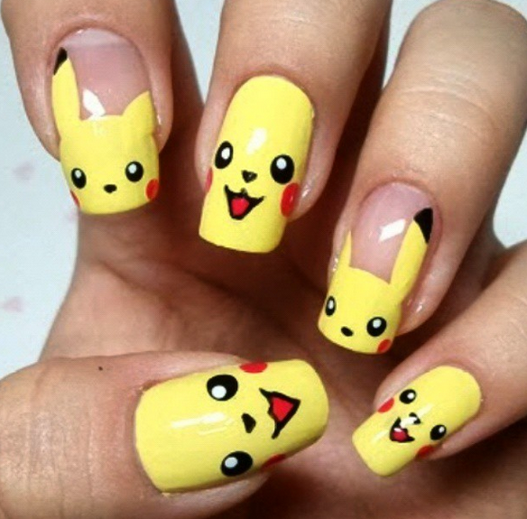 23 awesome nail art designs inspired by Pokémon http://t.co/ - 23 Awesome Nail Art Designs Inspired By Pokémon - Scoopnest.com