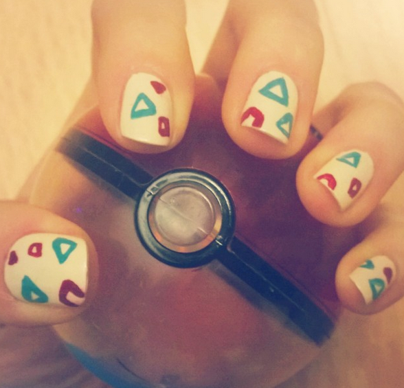 23 Awesome Nail Art Designs Inspired By Pokmon Scoopnest
