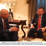 Photo: His Majesty King Abdullah II meets with @wef Founder and Chairman, Prof. Klaus Schwab #JordanWEF #mena15 http://t.co/E5ozQiMqEO