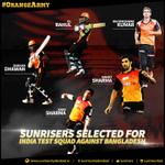 RT @SunRisers: Congrats @SDhawan25 @BhuviOfficial @ImIshant @klrahul11 @sharmakarn03 on making the Test team vs #BAN #OrangeArmy