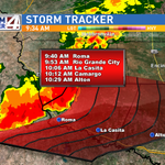 Storms packing #HeavyRain moving into #StarrCounty, with a potential track toward #HidalgoCounty by 10:30. @kgbt #rgv http://t.co/YqMa0fTgYr