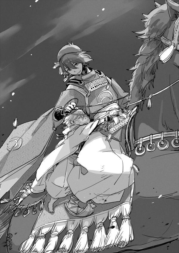お前馬が怖いようでは戰場なぞ行けぬなぁ って言われてたのにまさかその後馬に縁のある神社いくとは思ってない雛鶴ちゃん http://t.co/tIYsNbgoFX