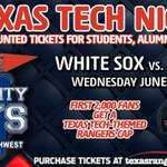 TTU students, alumni and fans receive discounted tickets the June 3rd @Rangers game. Buy now: http://t.co/KN6sNGjW6f. http://t.co/lIlyNVhDJV