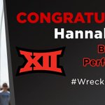 Hannah Carson Named Big 12 Female Performer Of The Year: http://t.co/n0jQvcy1zn #WreckEm http://t.co/2qSNIl56rq