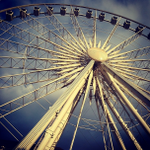 .@Linacracy gets an amazing shot of the #ATL #Skyview ferris wheel. http://t.co/gZ1iOLlonc #photopick #downtown http://t.co/d2iistO6AF