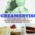 Voting starts now for the @psucreamery's 150th anniversary flavor. Tweet your choice and use #Creamery150. http://t.co/UcdYiiv41Z