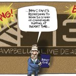 The smoke screen of the Budget at TV3 - my cartoon in todays @nzherald #johncampbell http://t.co/TWPlZp3aT1