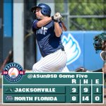 Four hits & three RBIs from Ryan Roberson helped @OspreyBSB eliminate Jacksonville from the @ASunBSB Championship. http://t.co/cZncAtRy65