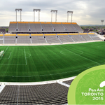 Soccer is almost here! #TO2015 and @cityofhamilton celebrate the completion of @CIBC Hamilton Soccer Stadium http://t.co/k05ZcG6O5m