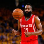 James Harden leads Houston on 23-6 run to end half. Rockets & Warriors are tied at 55. Harden leads all scores w/ 19. http://t.co/nQ7u91nGZa