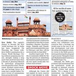 SHOCK MOVE - Centre kills Delhis heritage city dream http://t.co/YOHcqcsBvS