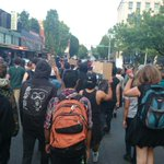 On the march again, up 4th. City Hall and OPD up ahead #OlympiaShooting #BlackLivesMatter http://t.co/N3BTc6xQen