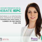 Este lunes 25 de mayo 7PM, debate oficial del @iepcjalisco con candidaturas al #Distrito10 en #Zapopan http://t.co/RRMxHMyteL