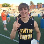 Congrats to Lawton-Bronsons @PrengStangg! State Champ in the 400 Meter Dash. 1st place time of 48.47 http://t.co/qOxYmWeVJP