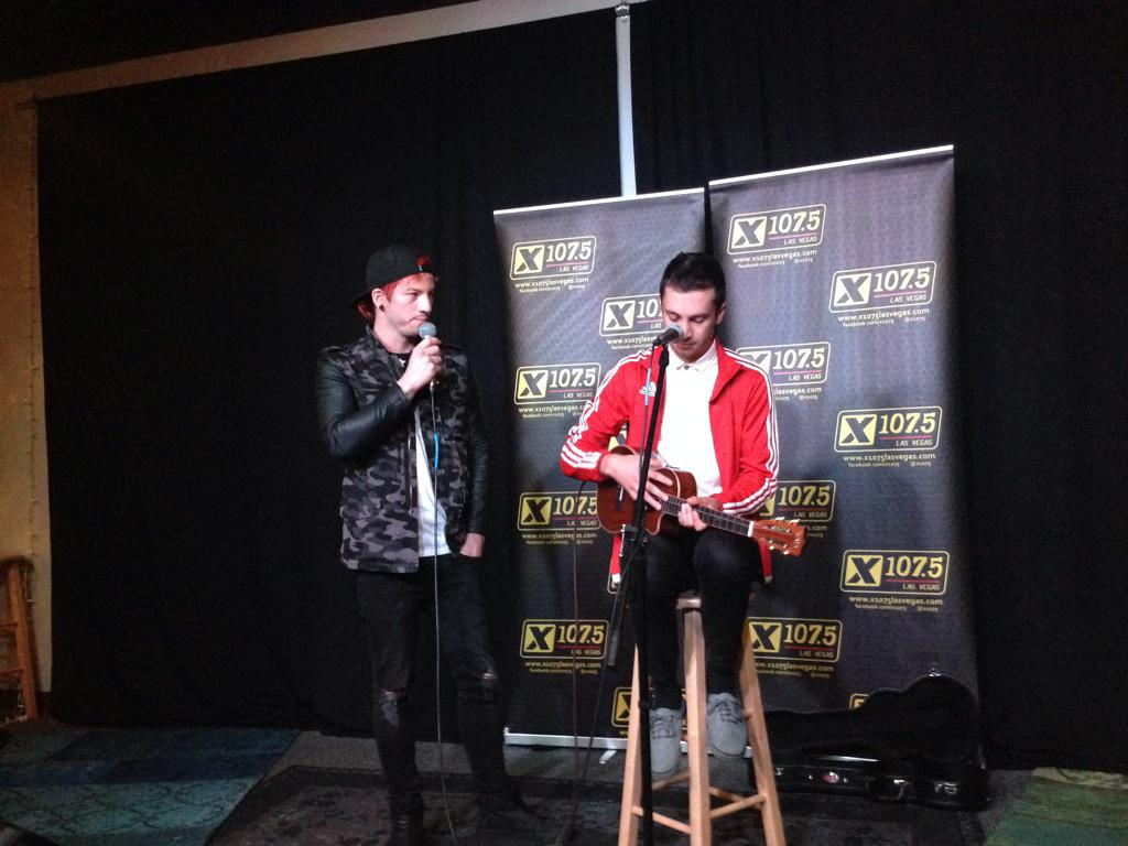 Just saw @twentyonepilots at @X1075  and it was incredible! Can't wait until their @lifeisbeautiful performance! http://t.co/OhFgEXGqGY