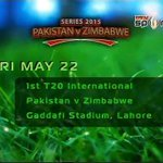 Pakistan will face Zimbabwe today in T20 in Lahore. Ptv Sports will telecast the match live from 7.00 pm. http://t.co/QXwUDUXI3n